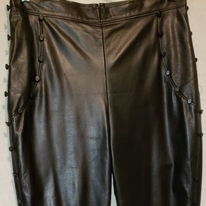 RODARTE Opening Ceremony Blk Leather Pants Sz M